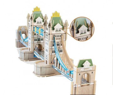 Educa 3D puslespill av tre Tower Bridge