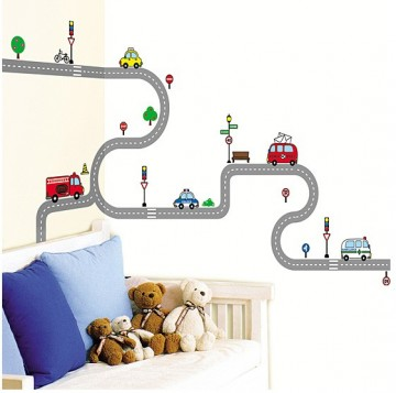 Wallsticker Transport stor