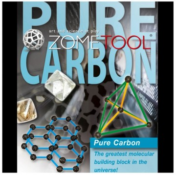 Zometool Pure Carbon byggesett