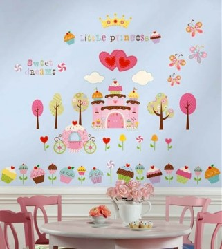 Wallsticker Cupcake Castle